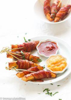 Bacon Wrapped Plantain-OK, no hot sauce dipping for AIP!