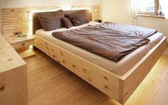 Bedroom Bed, Master Bedroom, Bedroom Decor, How To Dress A Bed, Pallet Designs, Wood Stone, Dressing Room, Bed Frame, Concrete