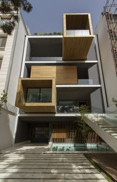 exterior design modern residence Innovative Turning Boxes Adapting Sharifi ha House to the Climate Changes of Tehran