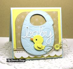 Star Background, Baby's Bib Die-namics, Blueprints 14 Die-namics, Cloud Cover-Up Die-namics, Oh Baby Die-namics - Jodi Collins #mftstamps