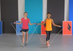 Jump Rope Partner Routine - Ropework instructional video for kids. Jump Rope Routine, Pe Ideas, After School Club, Jump Over, Exercise For Kids, Athlete, Sporty, Activities, Play
