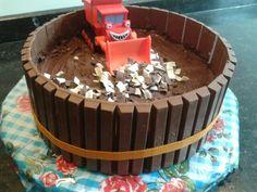 variant op de kitkat taart