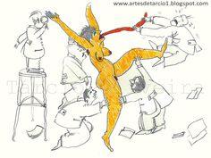 Desenho de Tárcio Oliveira | Grande mulher laranja