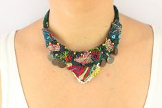 Unique Design Bohemian Boho Necklace Easter Gift by PinkBlueArtUK