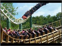 Joris en de Draak and Python rollercoasters
