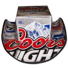 Coors Light Beer Hats Cowboy Black Trim FREE SHIPPING $29.95 http://megabeerpong.com/beer-box-hats
