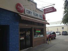 Coney Island Sandwich Shop: Classic hot dog shop.