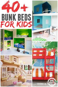 So many awesome bunk beds for kids! These are incredible.