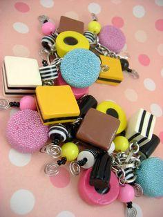 Liquorice Allsorts Bauble Bracelet - Lots of Pictures :)