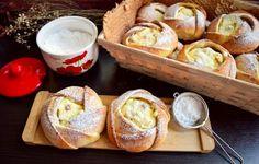 Brânzoaice trandafir cu brânză dulce și stafide Pretzel Bites, Cake Cookies, French Toast, Sweets, Bread, Cheese, Cooking, Breakfast, Desserts
