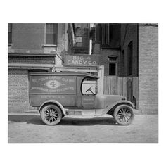 Candy Delivery Truck, 1926. A delivery truck for the Big 4 Candy Company, parked outside the business. Washington D.C., 1926.