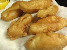 Crunchy Batter Fried Fish (No Beer)--uses cod fish and club soda instead of beer