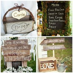 Simple Rustic Wedding Ideas | Easy Rustic Wedding Reception Ideas LOVE LETTERS IN CRATE