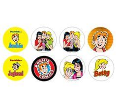 ARCHIE COMICS Set of 8 - 1 Inch Button Magnets. $6.99, via Etsy.