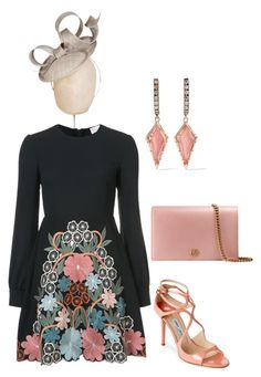 """""""Untitled #801"""" by lovelifesdreams on Polyvore featuring Jimmy Choo, Gucci, RED Valentino and Larkspur & Hawk"""