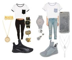Black & Gold vs. Silver & White by queennicki1019 on Polyvore featuring polyvore fashion style WithChic Cheap Monday Puma Nine West XOXO House of Harlow 1960 Versace Dorothy Perkins Hot Topic Agent 18 clothing