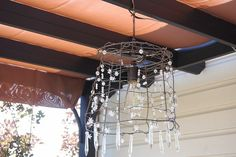 if some of your tomato cages get bent UP...... just add some pretty beads and crystals and a hanging light kit and KEEP those, now twinkly, tomato cages in your garden!! :-)