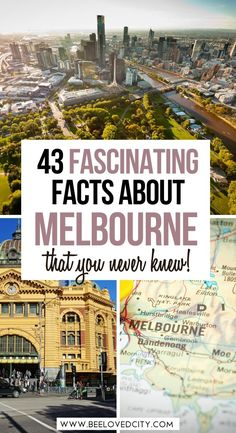 Want to learn more about Melbourne, Australia? Discover 43 fun facts about Melbourne. Melbourne is the capital of the state of Victoria. It's one of the most beautiful cities in the world and there is so much to learn about it! Melbourne fun facts | Facts about Melbourne | Facts about Australia Melbourne Australia, Australia Travel, Facts About Australia, Melbourne Travel, Most Beautiful Cities, Best Places To Eat, Day Trips, Traveling By Yourself, Taj Mahal