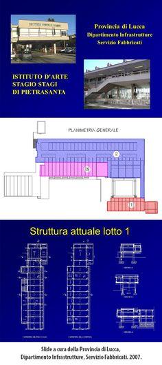 """Istituto Statale d'Arte """"Stagio Stagi"""". Slide a cura della Provincia di Lucca, Dipartimento Infrastrutture, Servizio Fabbricati. 2007."""
