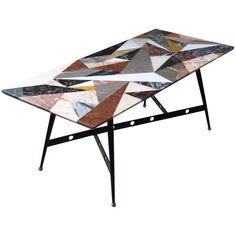 Pietra Dura Coffee Table Midcentury, Italy, 1950 | From a unique collection of antique and modern coffee-tables-cocktail-tables at https://www.1stdibs.com/furniture/tables/coffee-tables-cocktail-tables/
