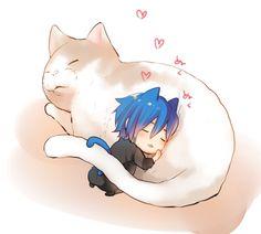 Tags: Anime, Vocaloid, KAITO, Tiny Person, kikuchi (kkc)