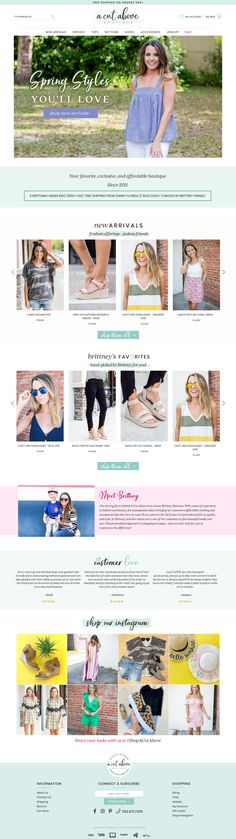 A Cut Above - Custom Shopify fashion boutique website with lots of custom features and gorgeous details.