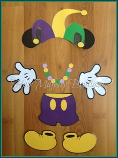 Mardi Gras Mickey Mouse Body Part Magnet by HairMajestyBoutique