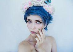 Pixie short blue hair <3 Follow for more(: