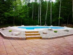 Discover new models of above-ground pools, semi-inground pools, in-ground pools and spas available at your Sima Canada dealer Semi Inground Pools, Pool Installation, In Ground Pools, Fun Stuff, Swimming Pools, Spa, Gallery, Outdoor Decor, Fun Things