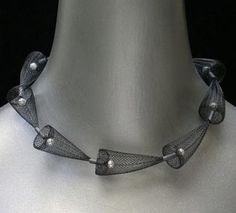 Necklace |  BARBARA COHEN-CA  From her mesh series.