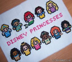 Fairytale Princesses Cross Stitch Pattern (PDF) INSTANT DOWNLOAD