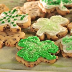 Chocolate Chip Shamrocks