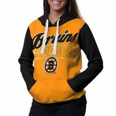 Boston Bruins Ladies Divisional Pullover Hoodie - Gold