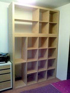 "IKEA Hackers: Old Expedit to ""Closet""/Storage"