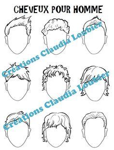 En 10 étapes, vos élèves apprendront comment bien dessiner un visage, tout en ajoutant leur touche personnelle. Matériel très simple : un crayon de plomb et des crayons de couleurs de bois. Ce document contient: - Une affiche en couleurs et une en noir et blanc, pour les proportions du visage. - 9 différentes formes de visage - 9 dessins de cheveux pour les hommes - 9 dessins de cheveux pour les femmes - 9 expressions différentes de visage