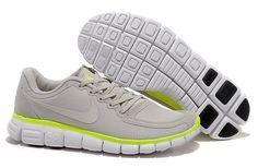 Nike Free 5.0 V4 Beige Yellow White Men's Running Shoes