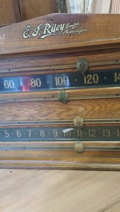 Large Riley Scoreboard. Art Deco Oak. B748 | Browns Antiques Billiards and Interiors.