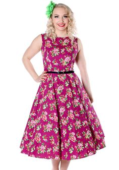 Damson Berry Floral Hepburn by Lady Vintage  #vintage #circledress #floraldress…