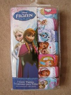 Disney Frozen girls underwear. Size 4, 6, 8.  For details or ordering click on the image!
