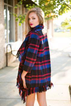 Plaid fringe #swoonboutique Swoon Boutique, Boutique Clothing, Swag, Plaid, Clothes, Tops, Dresses, Style, Fashion