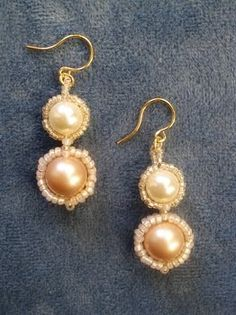 Art deco pearl earrings