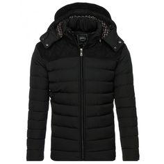 Černá pánská bunda na zimu s kapsy na zip - manozo.cz e993965c84b