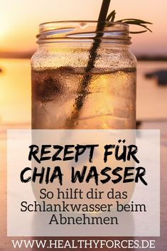 Abnehmen mit Chia Wasser: Was vielleicht ungewöhnlich klingt ist einfach und ef… Lose Weight with Chia Water: What may sound unusual is simple and effective. Here's a simple recipe with lemon that you can quickly prepare. Weight Loss Meals, Weight Loss Water, Weight Loss Detox, Diet Plans To Lose Weight, Losing Weight, Water Recipes, Lemon Recipes, Diet Recipes, Lemon Diet