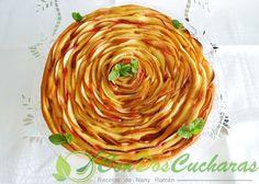 Tarta de manzana enrollada