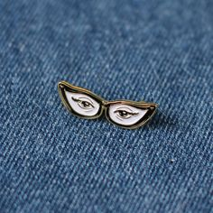 Cat Eye Enamel Lapel Pin