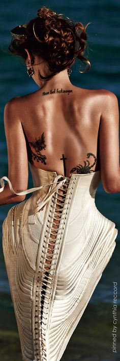 ~Jean Paul Gaultier Haute Couture Corsetting cynthia reccord The House of Beccaria# Beauty And Fashion, Love Fashion, Fashion Art, High Fashion, Fashion Design, Jean Paul Gaultier, Corsets, Silhouette Mode, The Ghostbusters