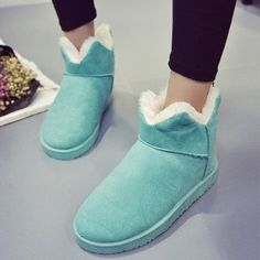 4271a8af77e Fashion Women Thicked Fur Warm Slip on Snow Boots Winter Casual Flats  Cotton Shoes Nubuck Leather Platform Woman Ankle Boots