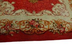 Antique Aubusson French Carpet Rug 2