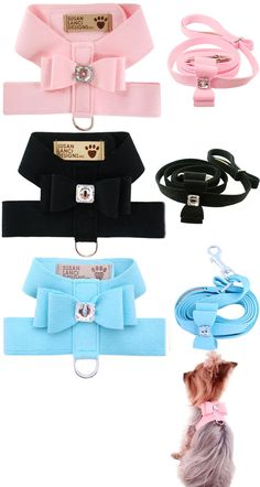 Tiffany Blue Dog Harness And Leash