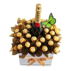 Moet Pure Indulgence – SIMPLY STUNNING – Pure Indulgence Moet Pure Indulgence is the ultimate gift containing 30 Ferrero Rocher Chocolates and a 750ml bottle of Moet & Chandon Champagne makes a stunning center piece.